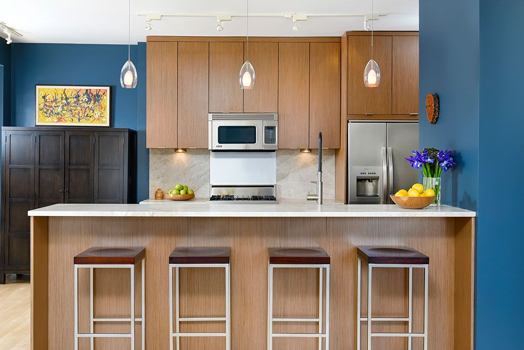 Kitchen Designer Chicago Mesmerizing A Bold Blue Modern Kitchen In Downtown Chicago Dresner Design Decorating Inspiration