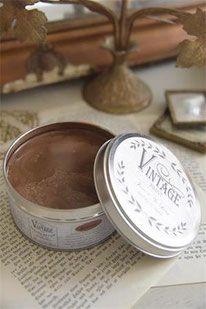 Cire Bronze Pour La Protection Et Effet Patine Sur La Vintage