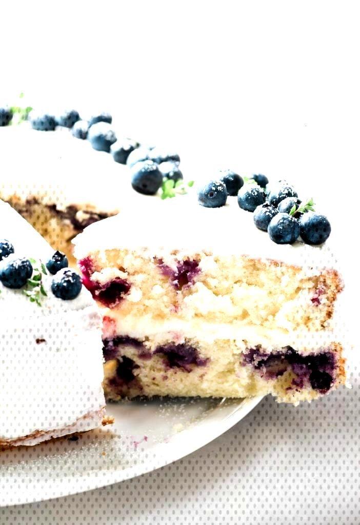 Food Photography Blueberry Lemon Layer Cake Food Photography Blueberry Lemon Layer Cake