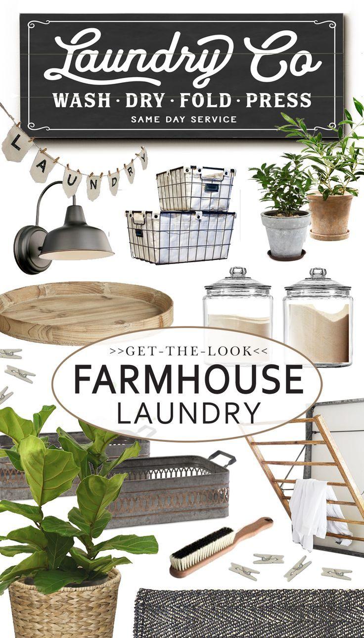Get The Look: Farmhouse Laundry Ideas & Inspiration