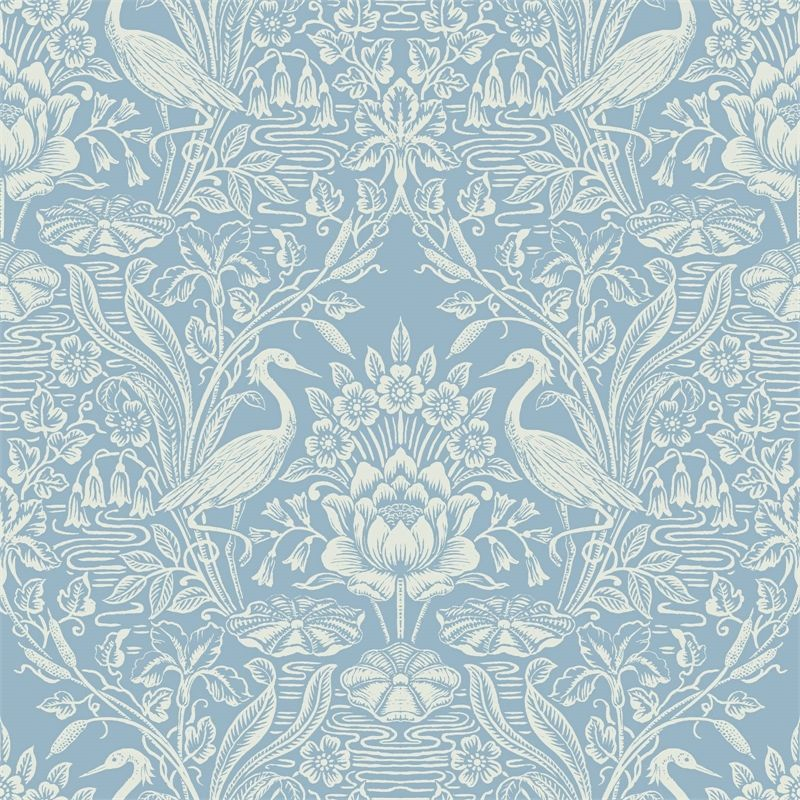 Find Fine Decor Crane Toile China Blue Wallpaper At Homebase Visit Your Local Store For The Widest Range Of Toile Wallpaper Blue Wallpapers Eclectic Wallpaper