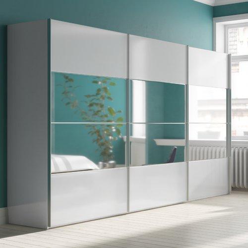 3 Door Sliding Wardrobe Rauch Interior Option Standard Size H236 X W405 X D69cm Colour White 3 Door Sliding Wardrobe Sliding Wardrobe Sliding Doors