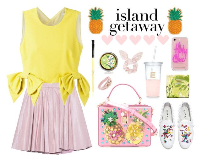 """Island gateaway"" by stevie-pumpkin ❤ liked on Polyvore featuring 2NDDAY, Dolce&Gabbana, MSGM, Joshua's, Salvatore Ferragamo, Sunnylife, Rebecca Minkoff, Jo Malone, Bobbi Brown Cosmetics and Topshop"