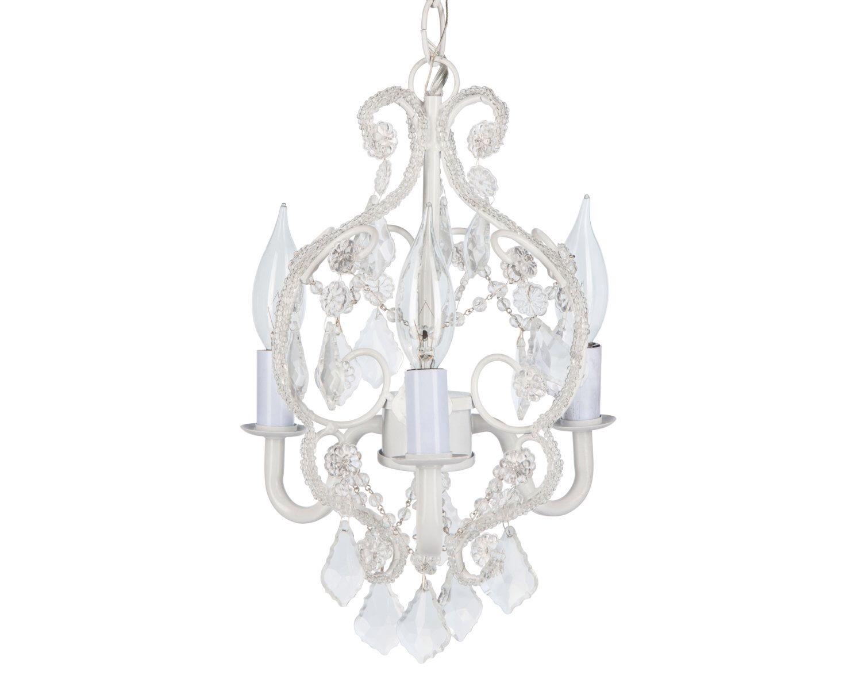White mini crystal chandelier 3 lights swag chandelier mini white mini crystal chandelier 3 lights swag chandelier mini chandelier small chandelier aloadofball Choice Image