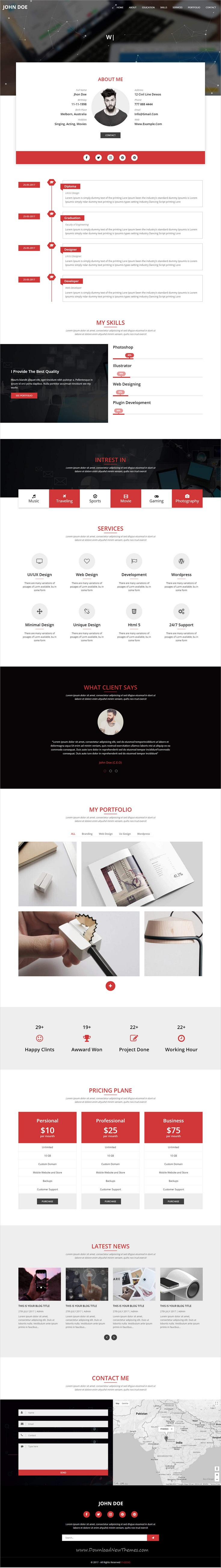 Onepager  Responsive One Page Multipurpose Html Template