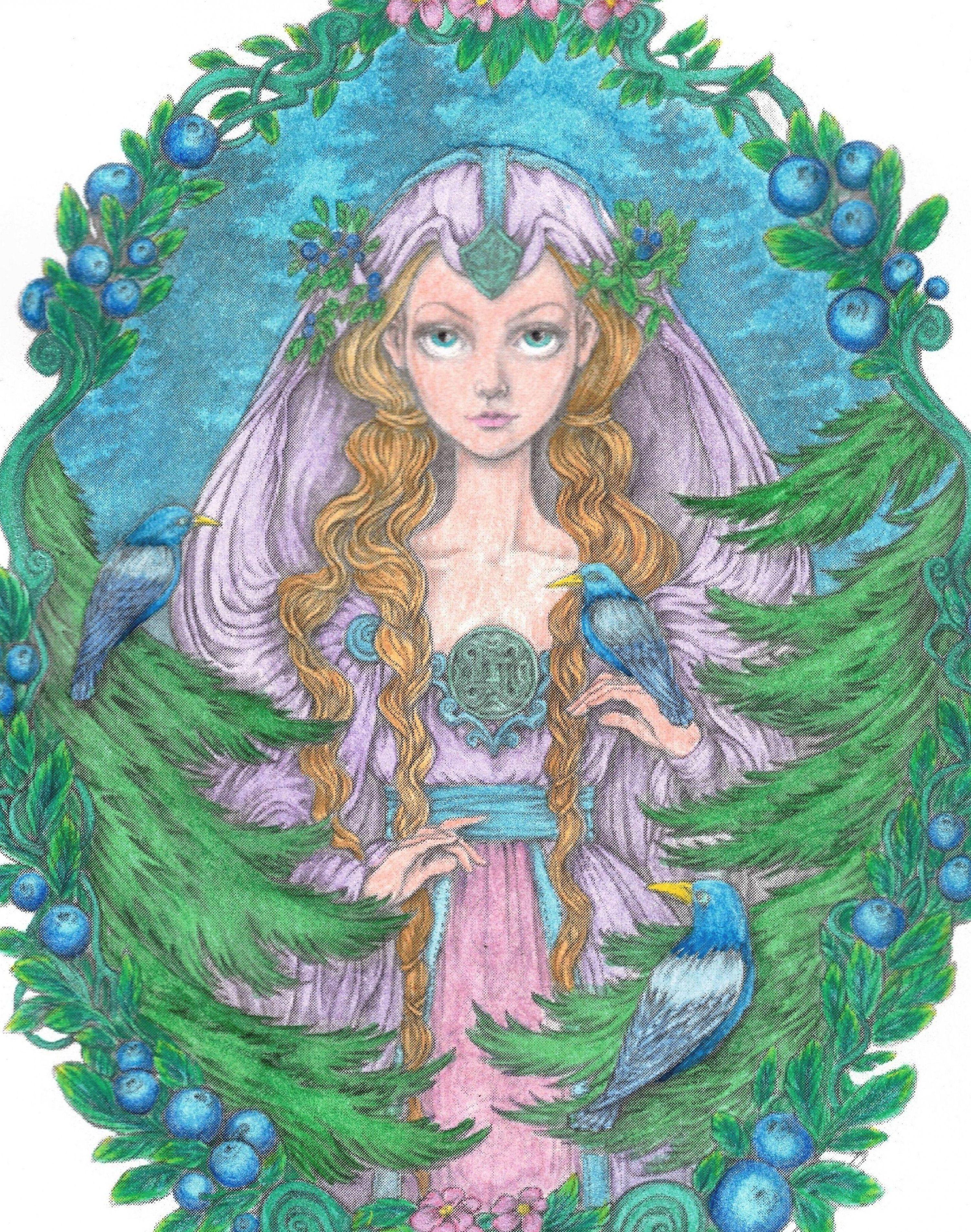 #eevanikunen #patreon #coloringbooks #adultcoloring  #carandache #pablopencils #luminancepencils #painting #fabercastell #gelatos #mixedmedia #art #watercolors #mgrahamwatercolors #painting #shinhan #danielsmithwatercolors