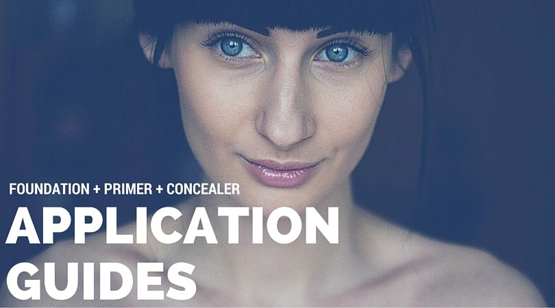 Compete step by step guides for applying foundation, primer and concealer! #makeupguides