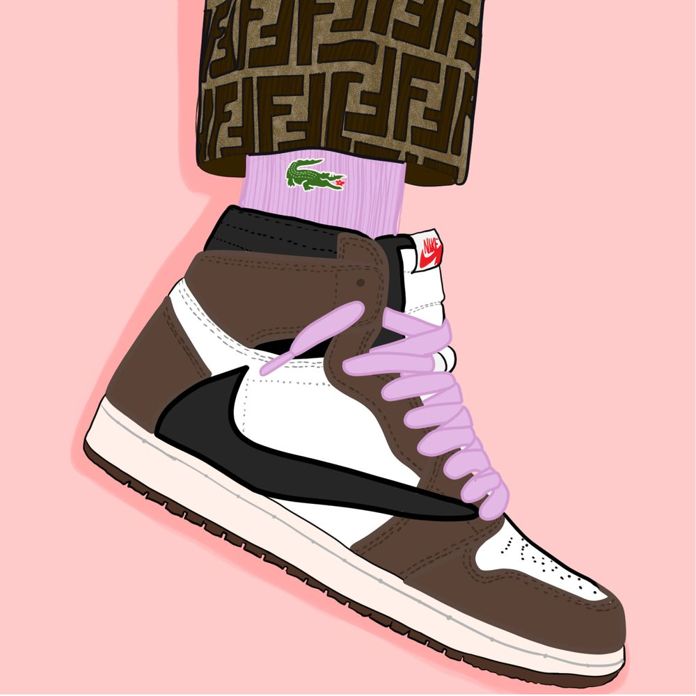 Cactus Jack Art Print By Arte De Imalay X Small In 2020 With Images Sneaker Art Hype Shoes Cactus Jack