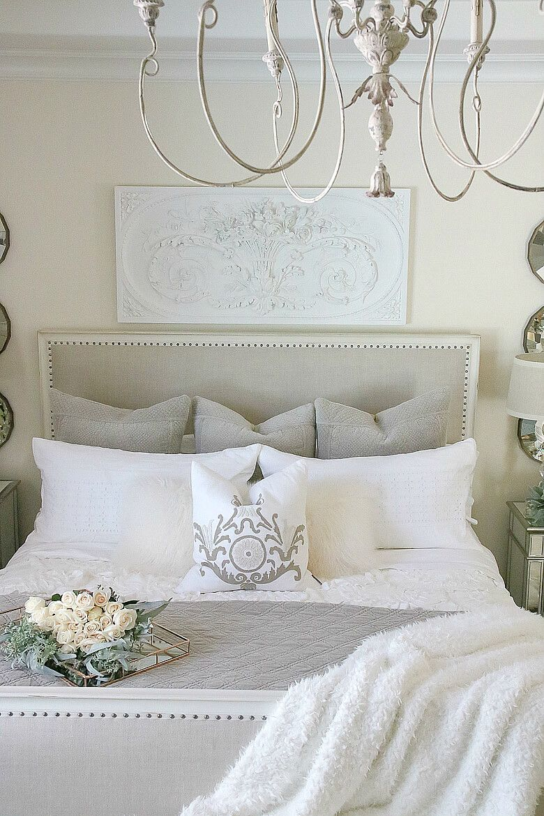gray and white french bedroom with roses great bedrooms in 2019 rh pinterest com
