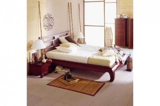 Bett Feng Shui Pinie massiv Holz Moebel braun Schlafzimmer | Betten ...