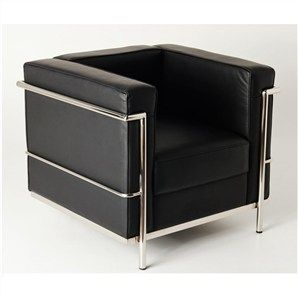 replica le corbusier premium leather sofa chair black office rh pinterest de