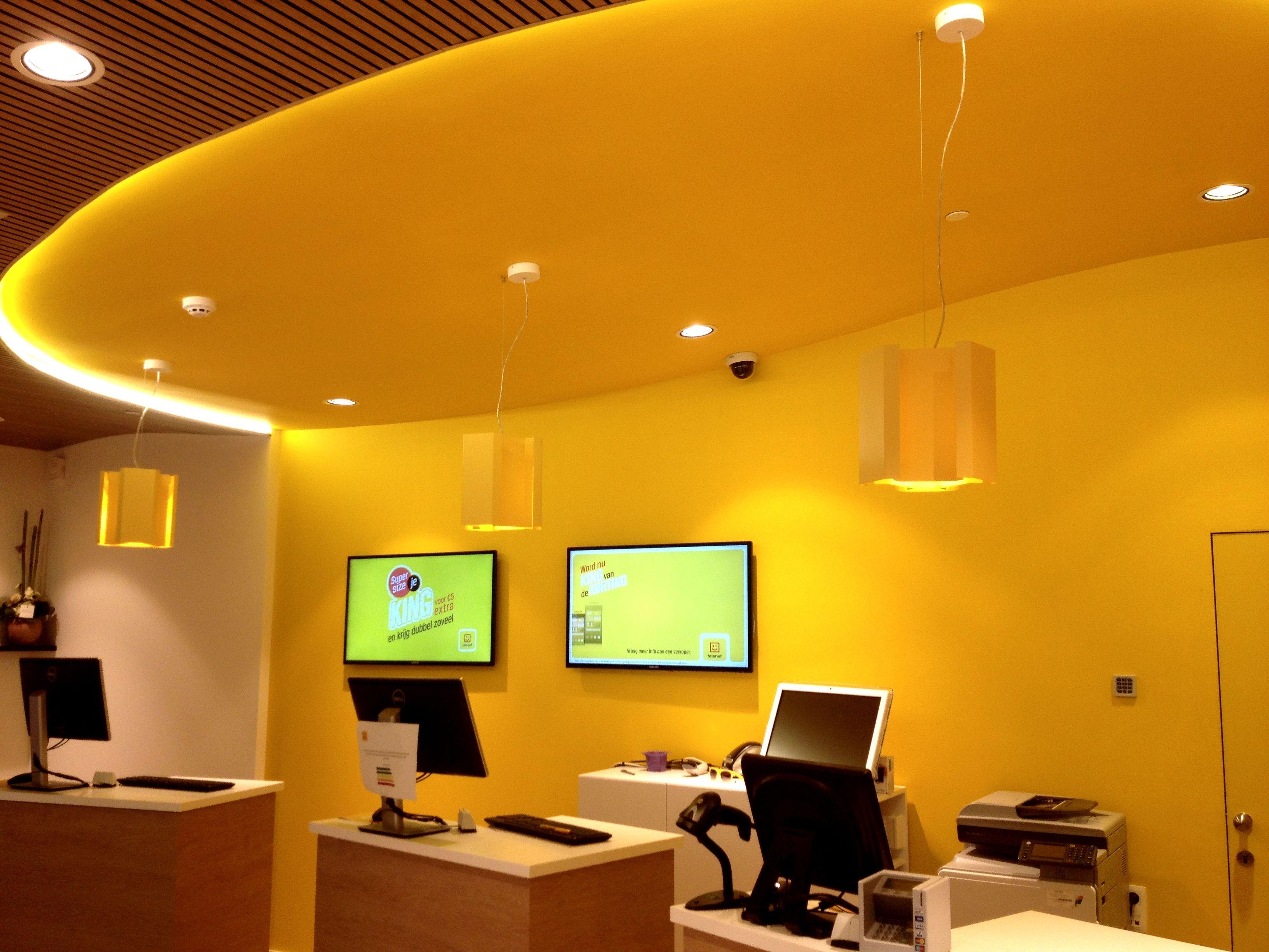 TELENET SHOP #DARK KASBAH yellow KWAI 20 & 40 bamboo  #concept #shopping center1 #surmesur #project Genk BE
