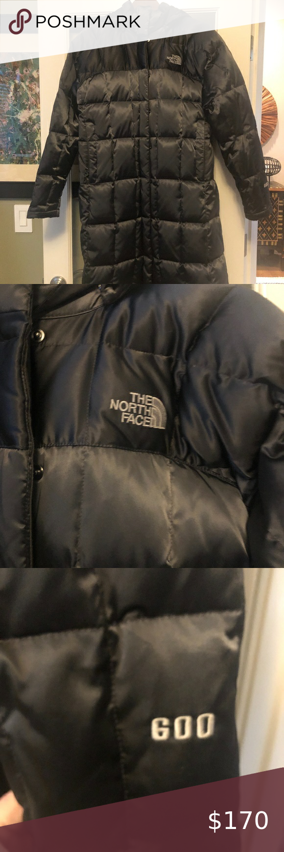 North Face Black Long Quilted Down Puffer Coat M Black North Face Down Puffer Coat Puffer Coat [ 1740 x 580 Pixel ]