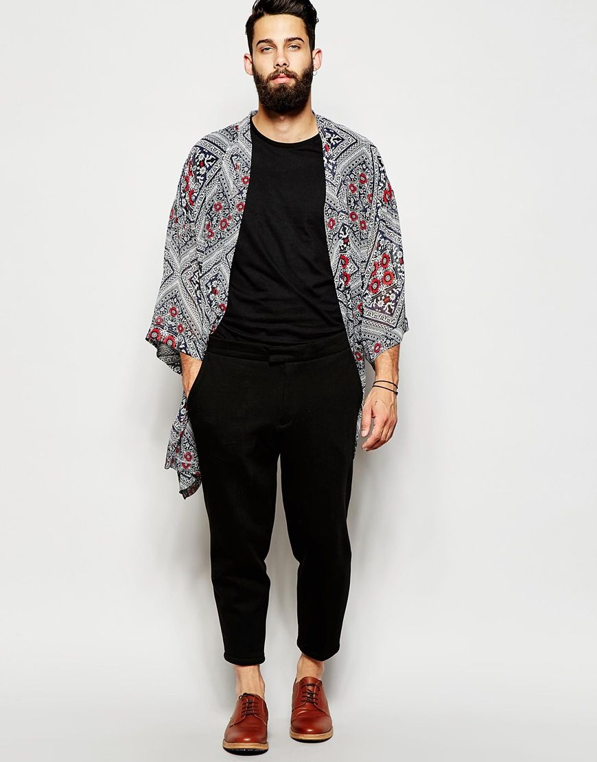 kimono imprim bandana mode homme pinterest imprim mode homme et hommes. Black Bedroom Furniture Sets. Home Design Ideas