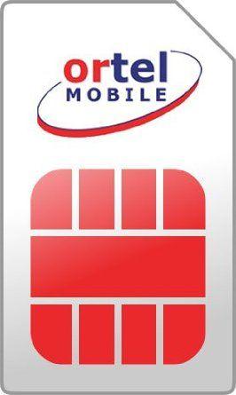 Lot 10 Cartes Sim Ortel Mobile - Cartes Sim/Avec Credits - disponible chez votre grossiste www.SIM-CARTE.fr