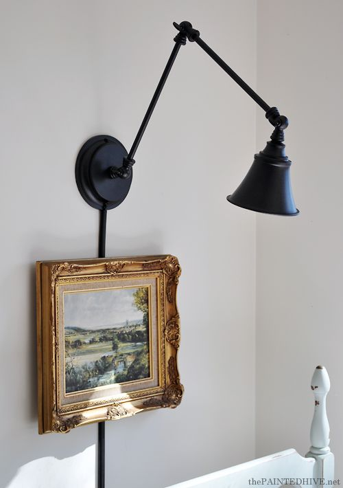 DIY Wall Mounting a Desk Lamp | The Painted Hive - DIY Wall Mounting A Desk Lamp The Painted Hive DIY Home