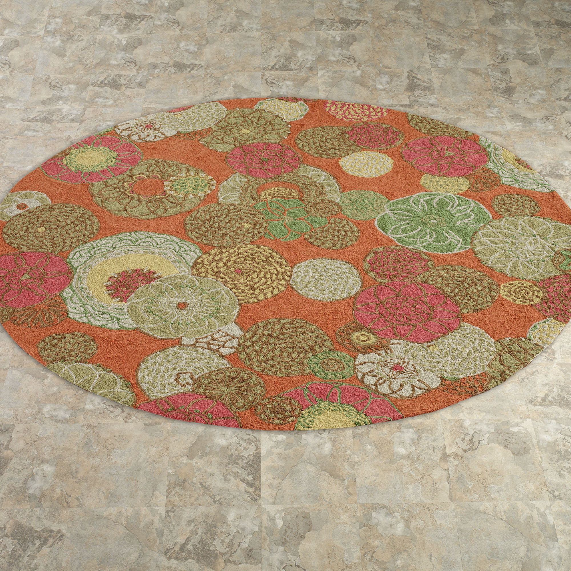 Image Of Round Indoor Outdoor Rugs Color