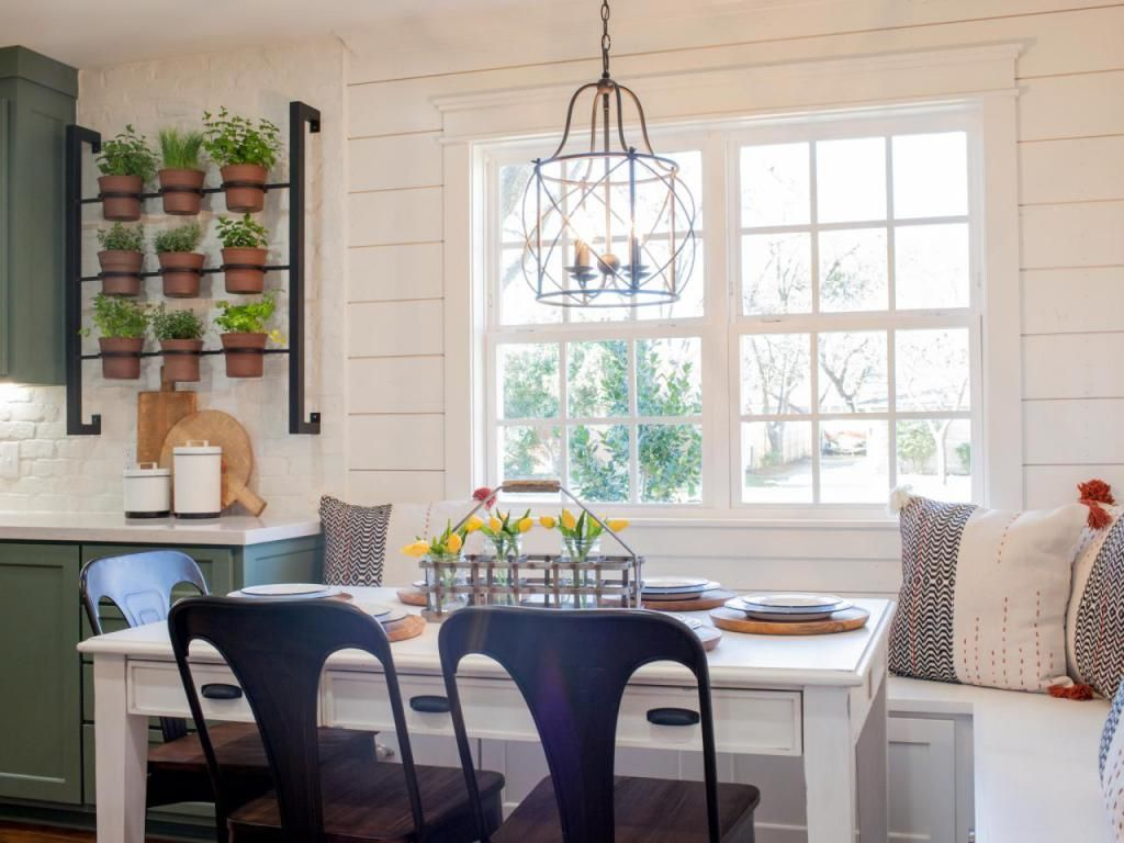 Kitchen Nook Lighting Table Storage And 15 Cushions