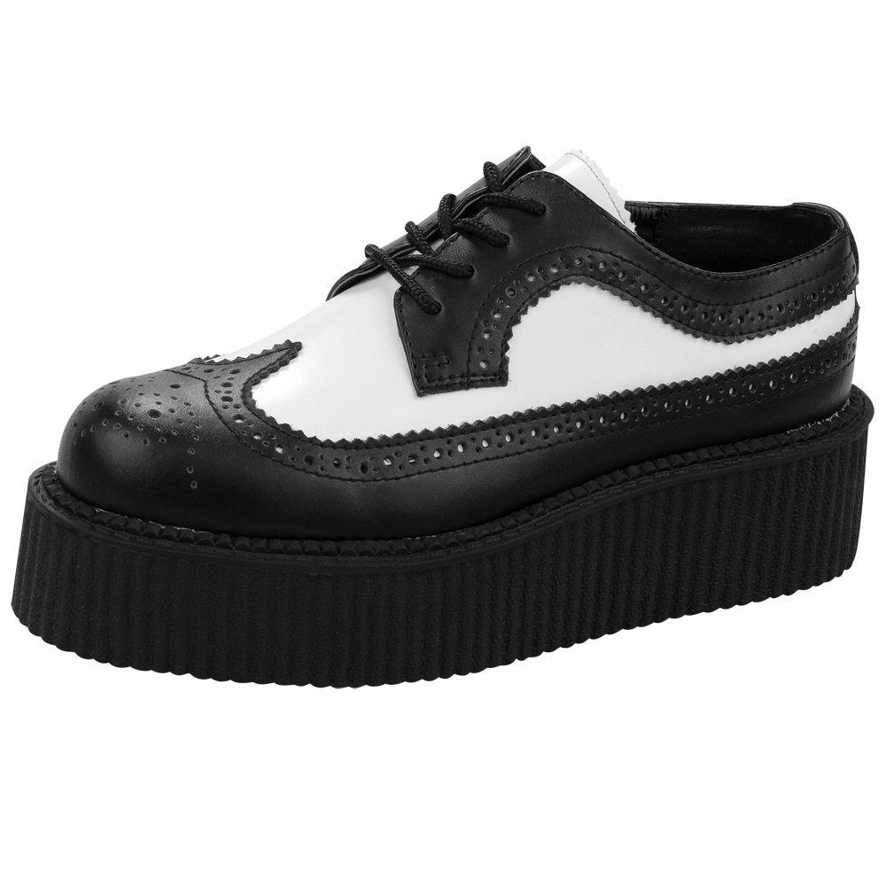T.U.K. Shoes Men's Black & Plaid Brogue