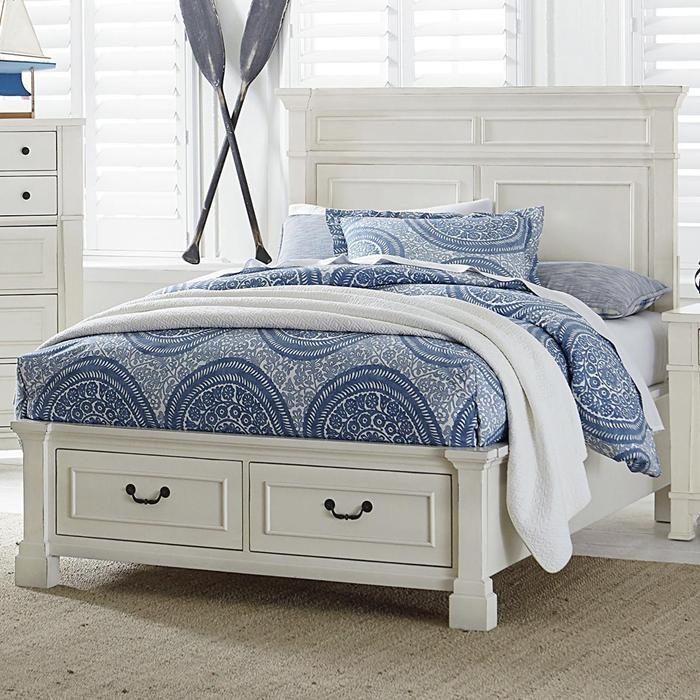 langley furniture chesapeake bay full storage bed in chalk white rh pinterest com