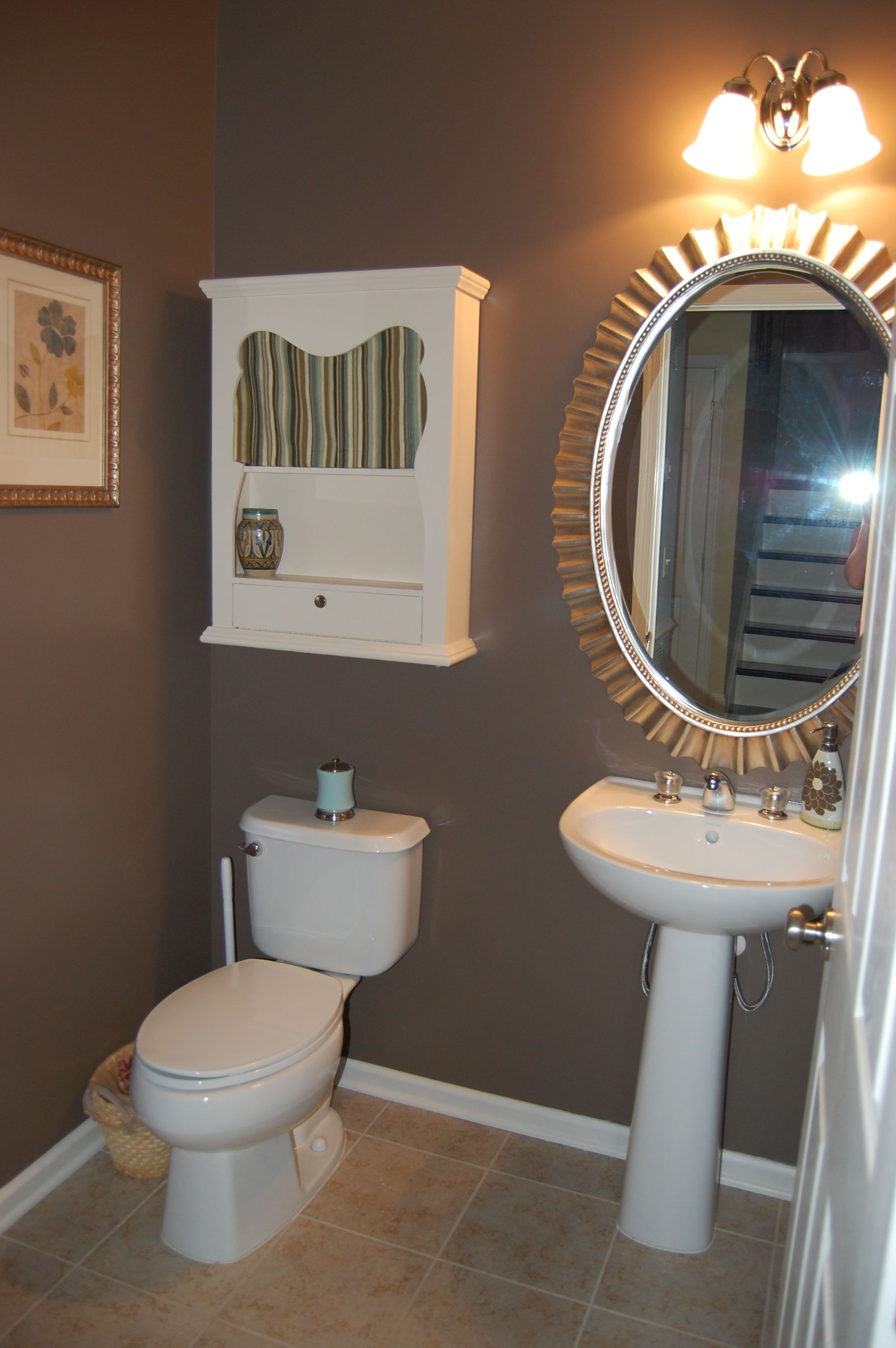 Powder room bathroom color projects pinterest like for Bathroom finishes trends