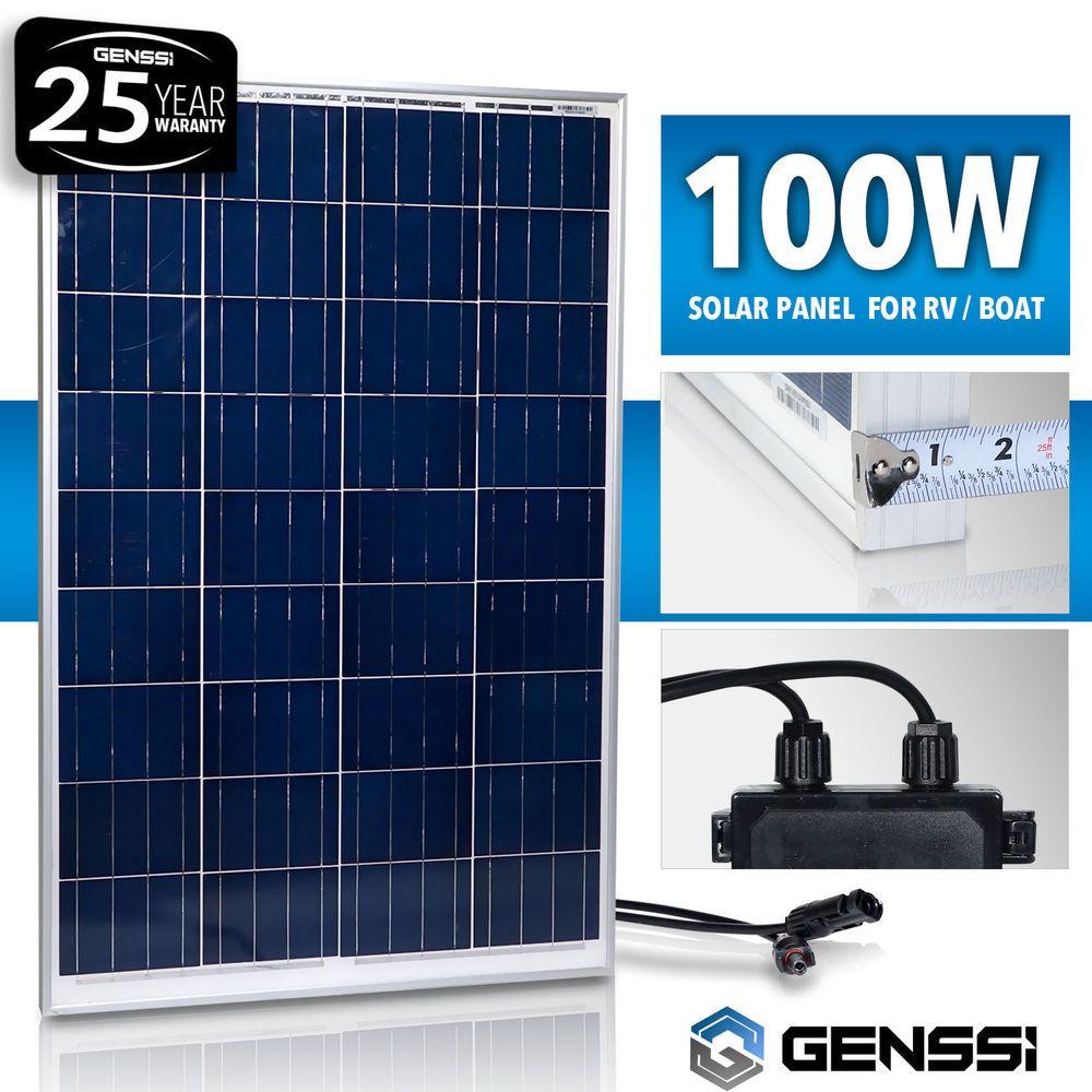 Genssi 100w Solar Panel 12v 12 Volt Poly Off Grid Battery Charger Rv Boat Genssi 100wphotovoltaicsolarpanel Solar Panels Solar Solar Pv Panel