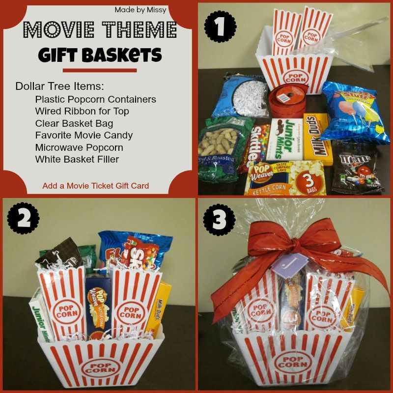 Movie Theme Gift Basket Using Dollar Tree Items