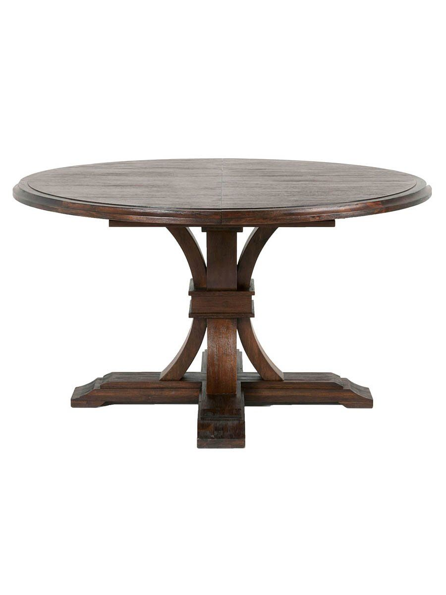 davis 54 72 round extension dining table java dining table rh pinterest com