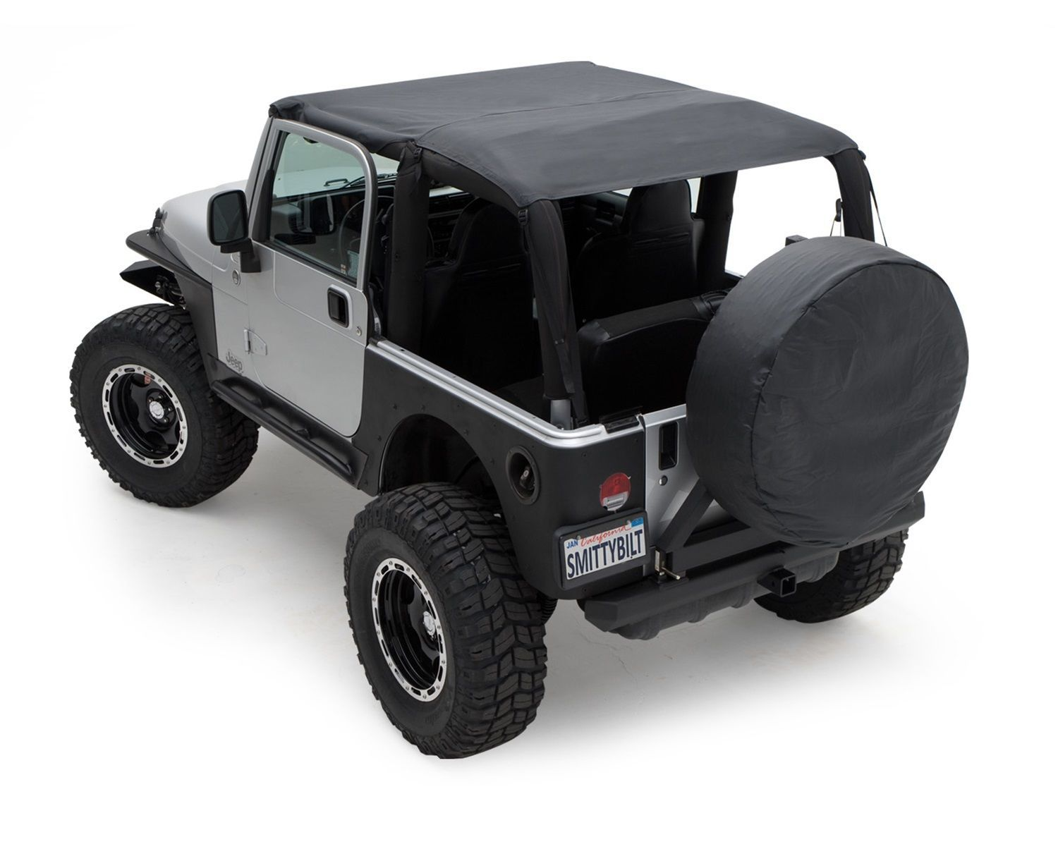 Smittybilt 93615 Black Diamond Extended Bikini Soft Top 97 06 Tj
