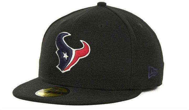official photos 490ca 6b6b8 New Era Houston Texans Nfl Black Team 59FIFTY Cap