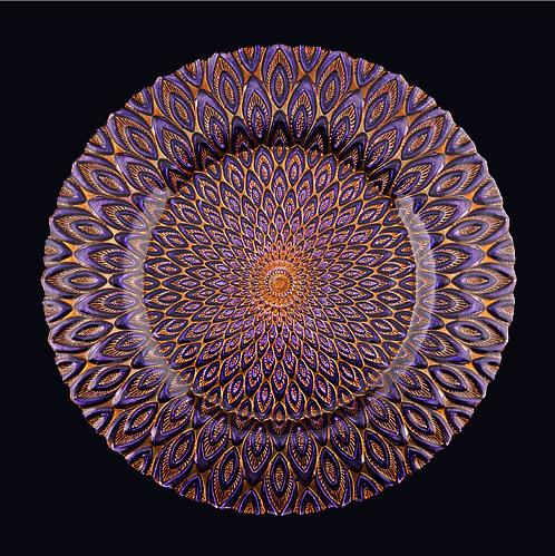 purple peacock plate