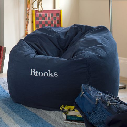 Navy Washed Twill Beanbag Carter S Quot Bigger Boy Quot Room