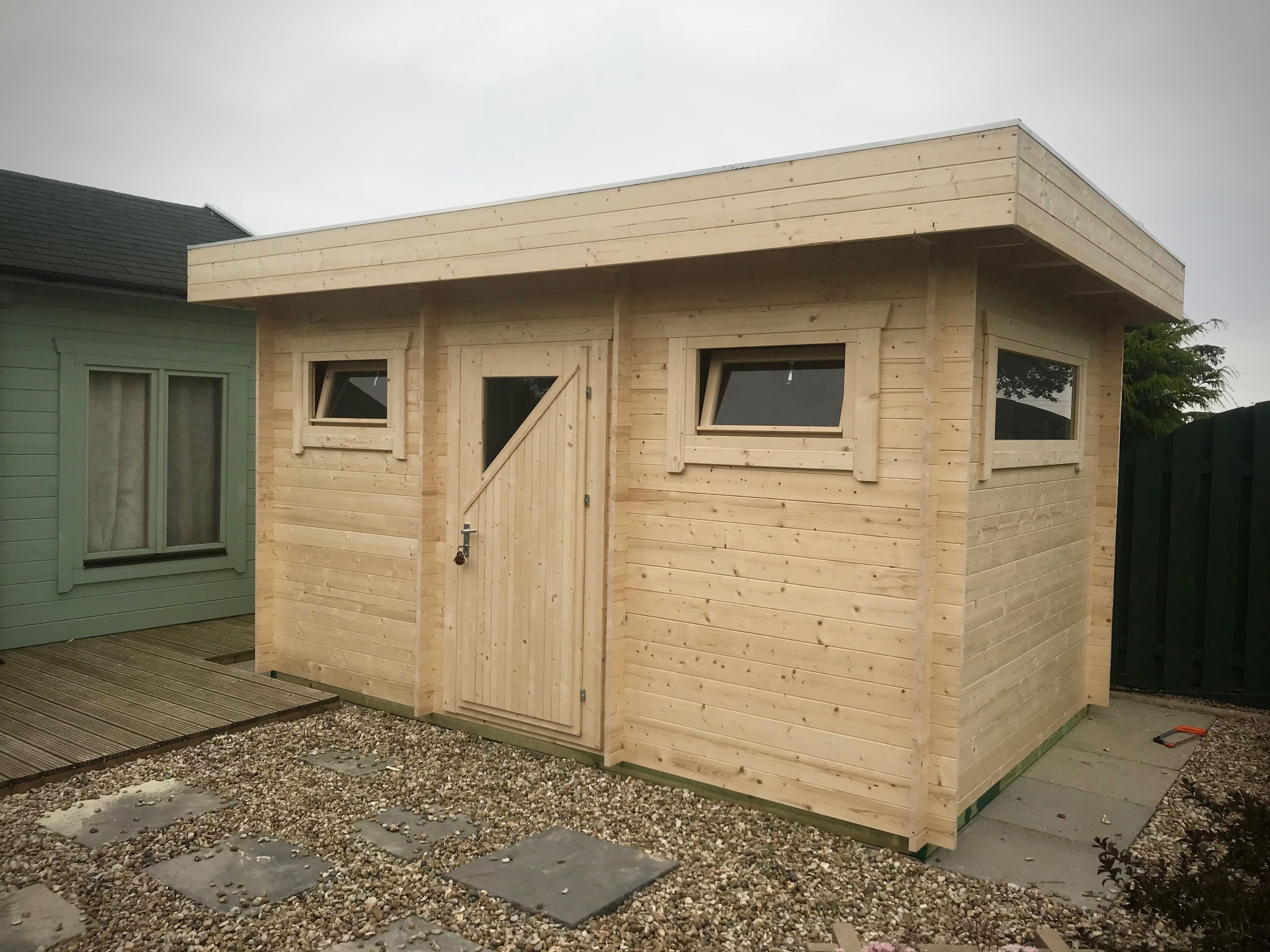 Best Flat Roof 2 5M X 4M Log Cabin Supplied In A 28Mm Wall With 640 x 480