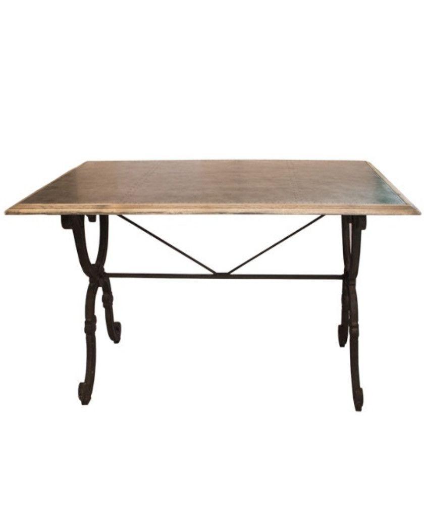 clarke dining table with iron base allissias attic vintage rh pinterest com