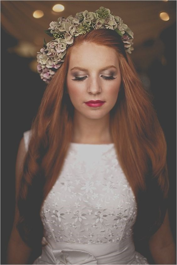 21 Fabulous Brides With Ginger Hair Best Wedding Makeup