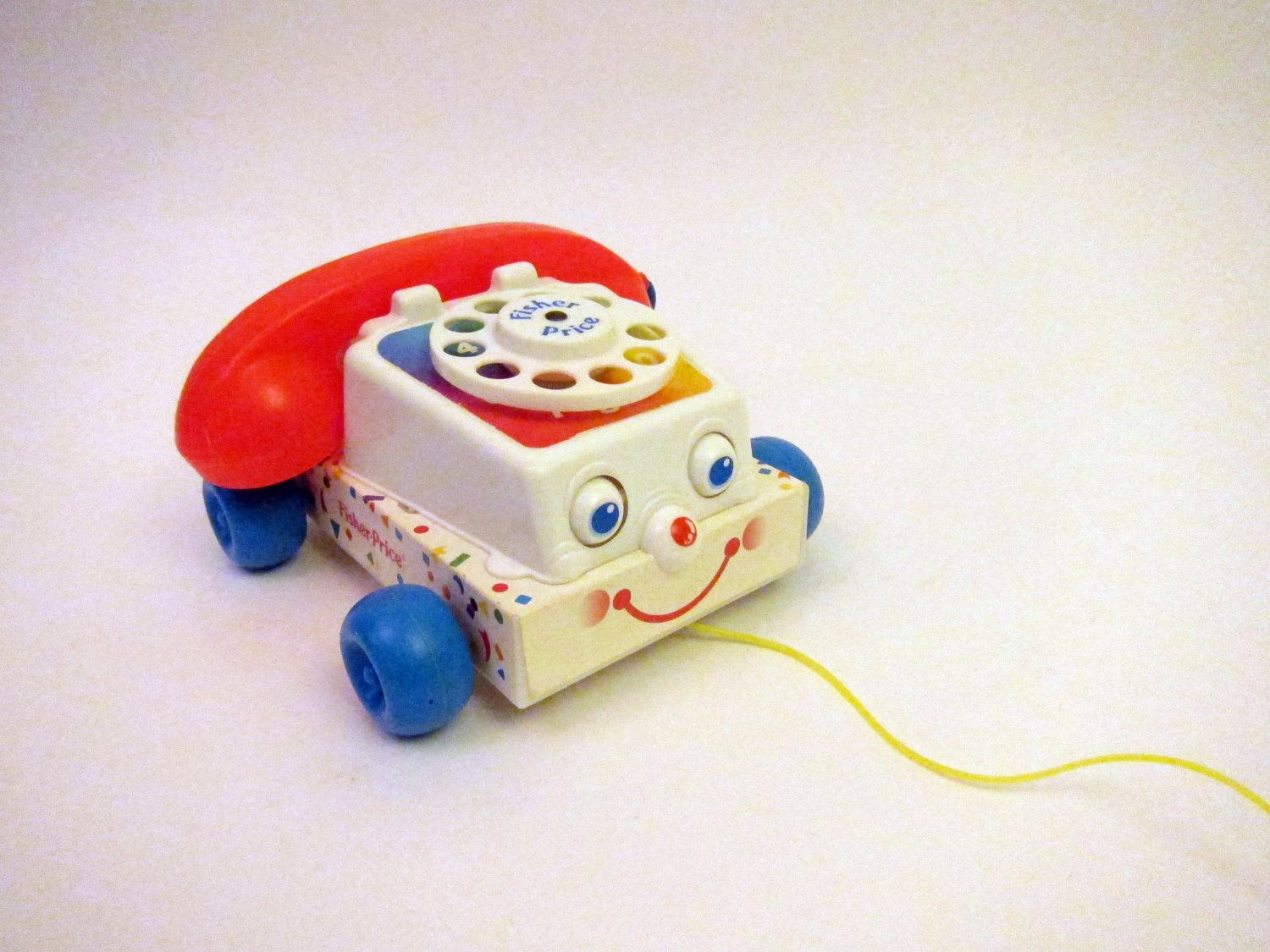 Classic 80s Toys : Vintage fisher price chatter telephone used to put coins
