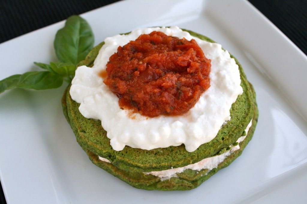 lasagna pancakes spinach pancakes with cottage cheese and tomato rh pinterest ca
