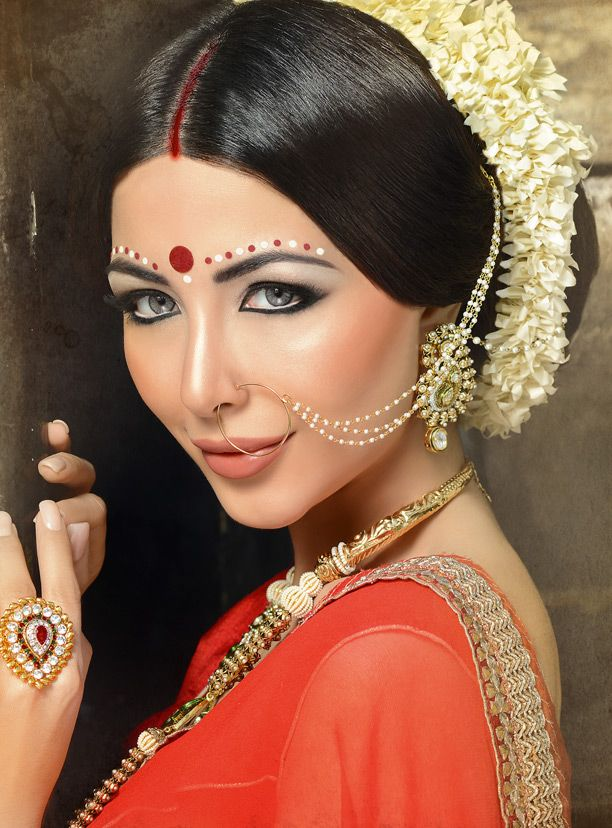 indian wedding hairstyle gallery%0A Bridal makeup and Hair