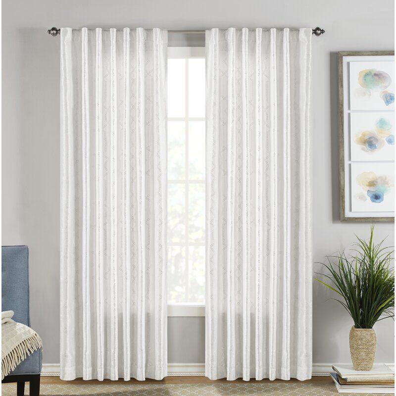 Adalina Geometric Room Darkening Rod Pocket Curtain Panels Rod Pocket Curtain Panels Rod Pocket Curtains Curtains Living Room What are rod pocket curtains