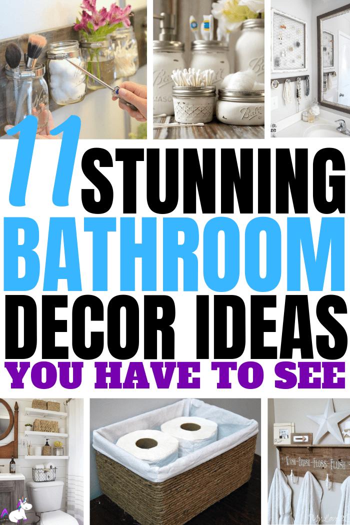 11 Small Bathroom Decor Ideas You Can DIY On A Really ...