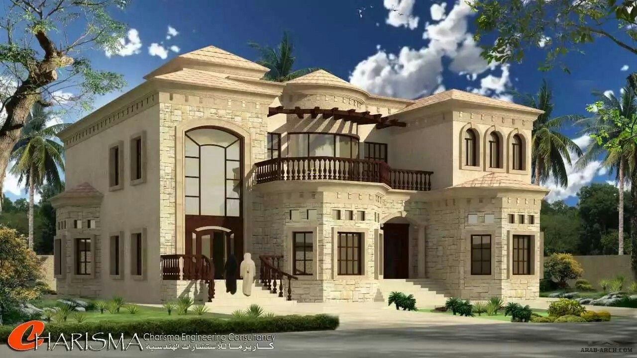 Pin by azhar masood on house elevation arabic pinterest for Luxury home elevations
