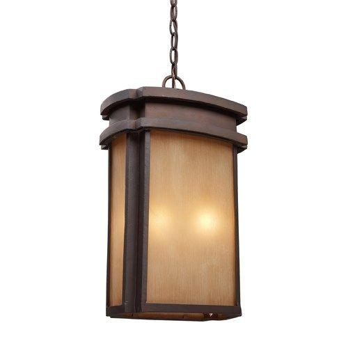 Elk Lighting 42143-2 Sedona 2 Light Outdoor Pendant in Clay Bronze