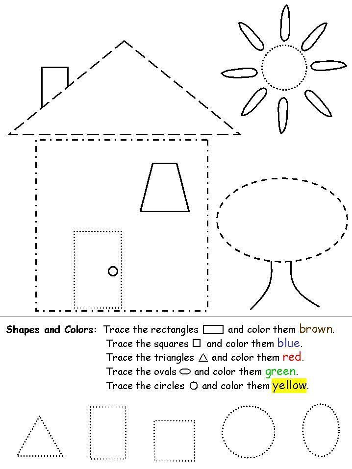 shapes for children :) | Atividades | Pinterest | Klasse