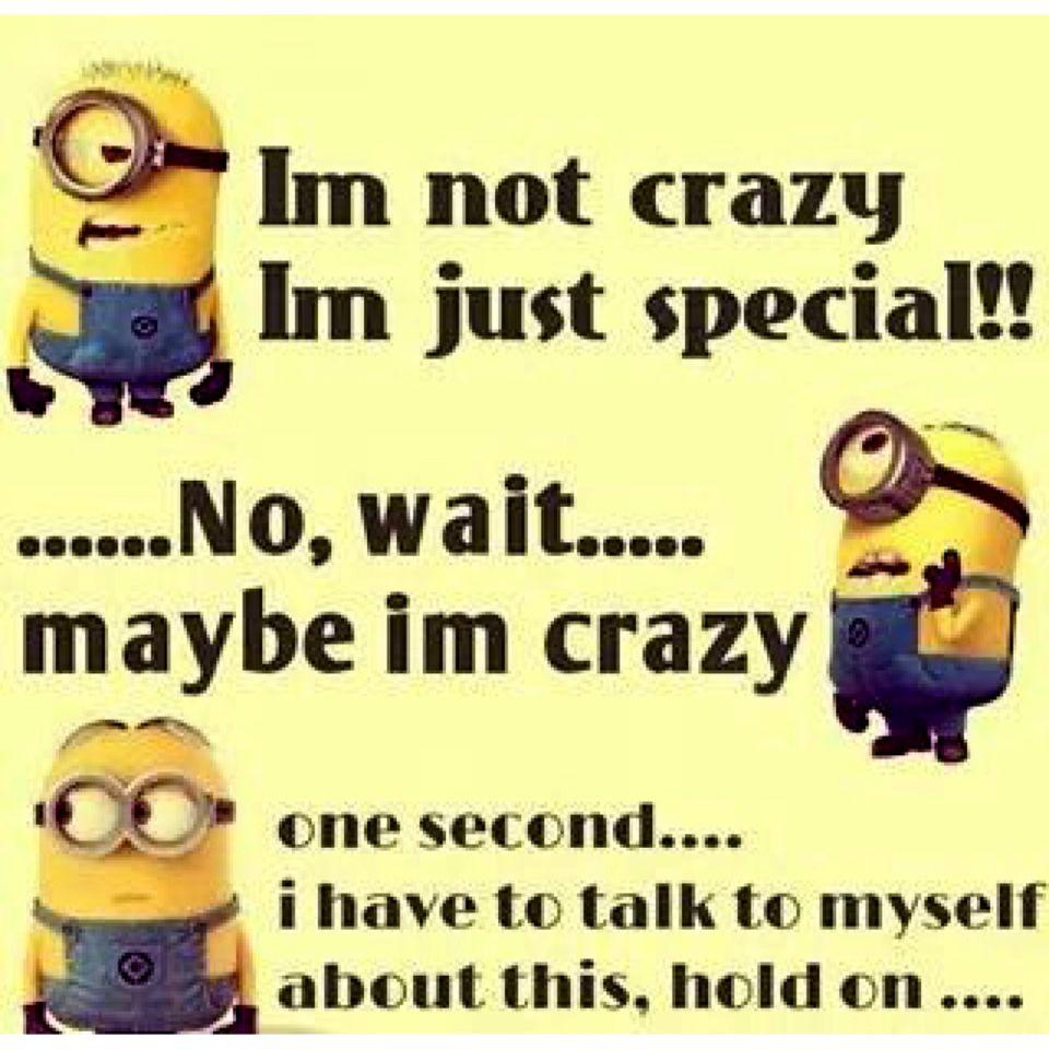 I am Crazy Special · Funny Crazy QuotesMinion Love