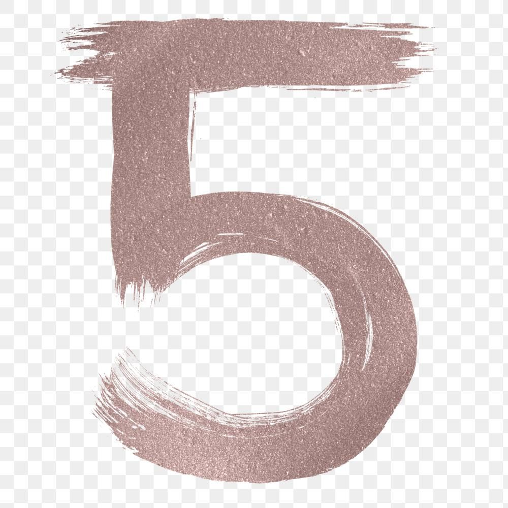 Number 5 Png Brush Stroke Rose Gold Metallic Free Image By Rawpixel Com Hein Brush Stroke Png Numbers Font Png