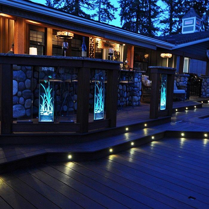 Glass perfect panel dekor lighting stair lightingoutdoor