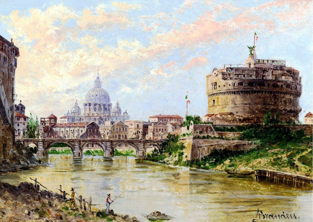 A View of the Tiber jigsaw puzzle in Piece of Art puzzles on TheJigsawPuzzles.com