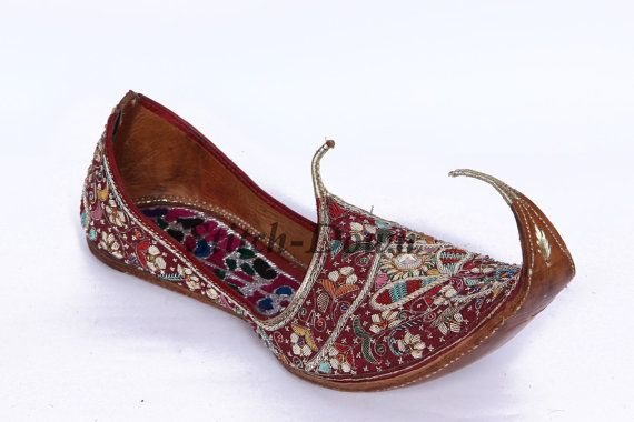Mens Brown Indian Wedding Shoes Paisley Pattern MJ0176