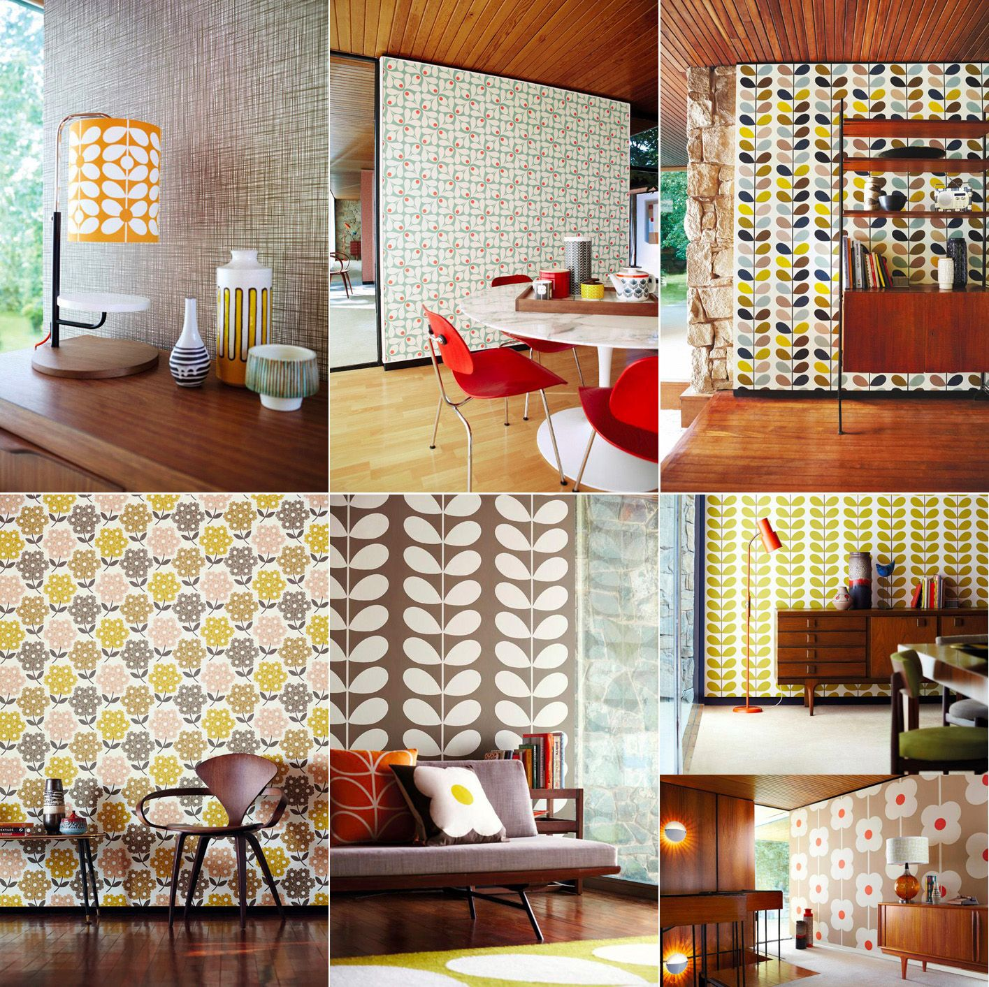 Bright hallway wallpaper  wallpaper from Orla Kiely Iull take the whole house  Home