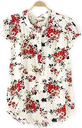 I want this blouse so much!! SixKiss Women's Short Sleeve Floral Print Button Blouse https://www.amazon.com/dp/B00X2C2SXU/ref=cm_sw_r_pi_dp_x_pOEVybJ5CKGVN